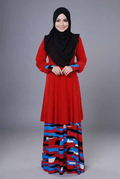SR046D - RAISYA (Top+Skirt)