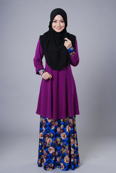 SR047G - RAISYA (Top+Skirt) - Butik NURSAFIA