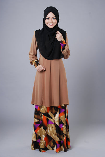SR048G - RAISYA (Top+Skirt) - Butik NURSAFIA