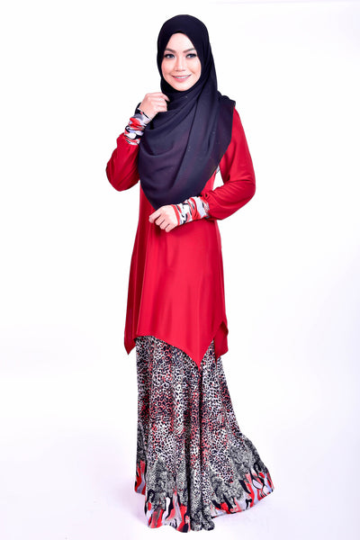 SB008A - BUSHRA (Top+Skirt) - Butik NURSAFIA