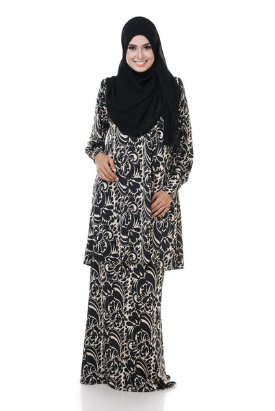 SZ002F - ZULFA (Top+Skirt) - Butik NURSAFIA