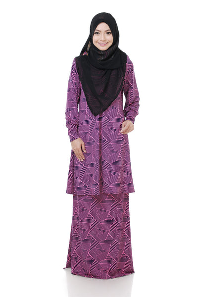 SZ004A - ZULFA (Top+Skirt) - Butik NURSAFIA