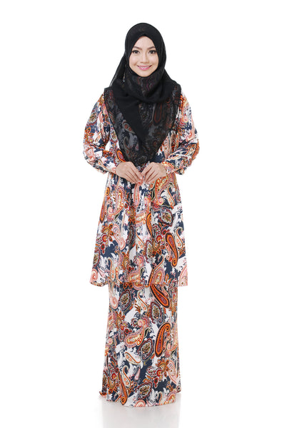 SZ002C - ZULFA (Top+Skirt) - Butik NURSAFIA