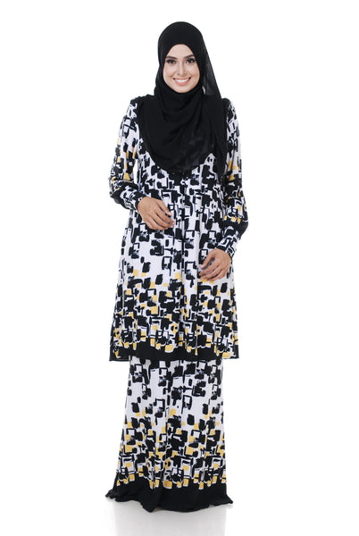 SZ002B - ZULFA (Top+Skirt) - Butik NURSAFIA