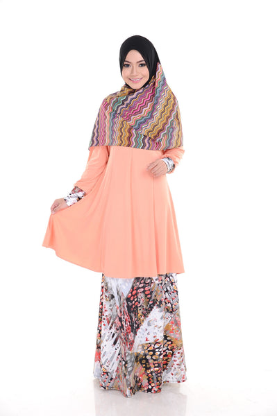 SR008C - RAISYA (Top+Skirt) - Butik NURSAFIA