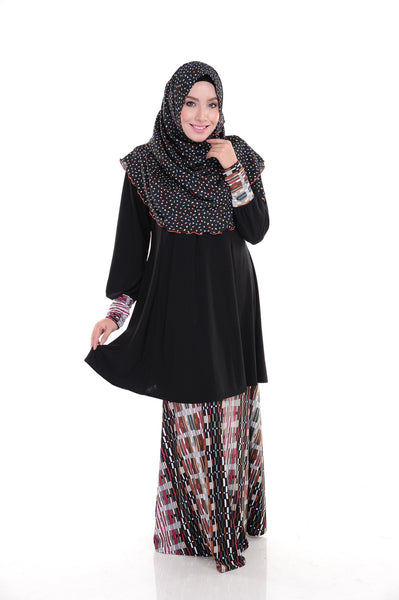SR009B - RAISYA (Top+Skirt) - Butik NURSAFIA