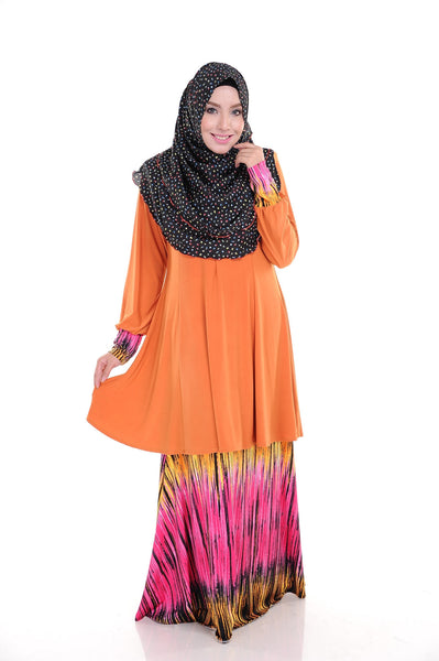 SR008D - RAISYA (Top+Skirt) - Butik NURSAFIA
