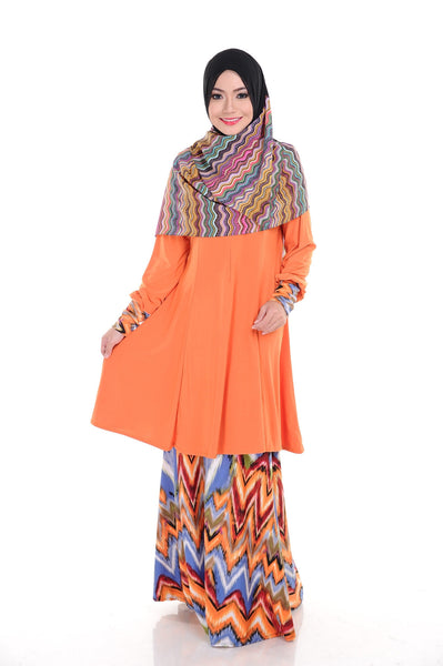 SR009G - RAISYA (Top+Skirt) - Butik NURSAFIA