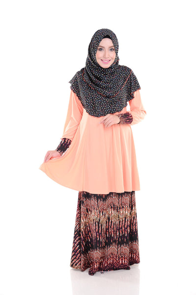 SR010B - RAISYA (Top+Skirt) - Butik NURSAFIA