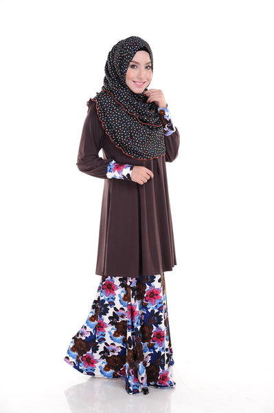 SR009D - RAISYA (Top+Skirt) - Butik NURSAFIA