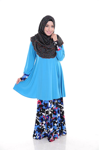 SR008F - RAISYA (Top+Skirt) - Butik NURSAFIA