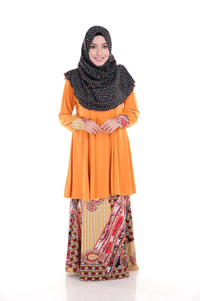 SR010D - RAISYA (Top+Skirt) - Butik NURSAFIA