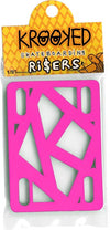 "Krooked Riser Pads 1/8"" Hot Pink Single Set"
