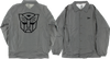 Primitive Autobots Coaches Jacket Large Grey