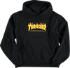Thrasher Flames Youth Hoody/Sweater Small Black
