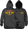 Powell Peralta Winged Ripper Hoody/Sweater Small Charcoal