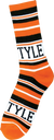 Bro Style Home Team Crew Socks-Orange/Black 1 Pair