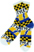 Bro Style Lightening Bolt Crew Socks-White 1 Pair