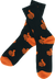Bro Style Spooky Thumbs Crew Socks-Black W/Orange 1 Pair