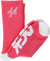 Dgk Loud Crew Socks Coral/White1 Pair