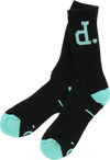 Diamond Unpolo High Socks- Black/dmnd.blue 1 Pair