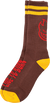 Spitfire Heads Up Crew Sock Brwn Yellow Red