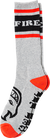 Spitfire Og Classic Crew Socks Heather Grey  Black Red