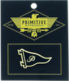 Primitive Pennant Lapel Pin Black/Gold