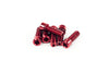 Mission Hollow Stem Bolts 26mm Red