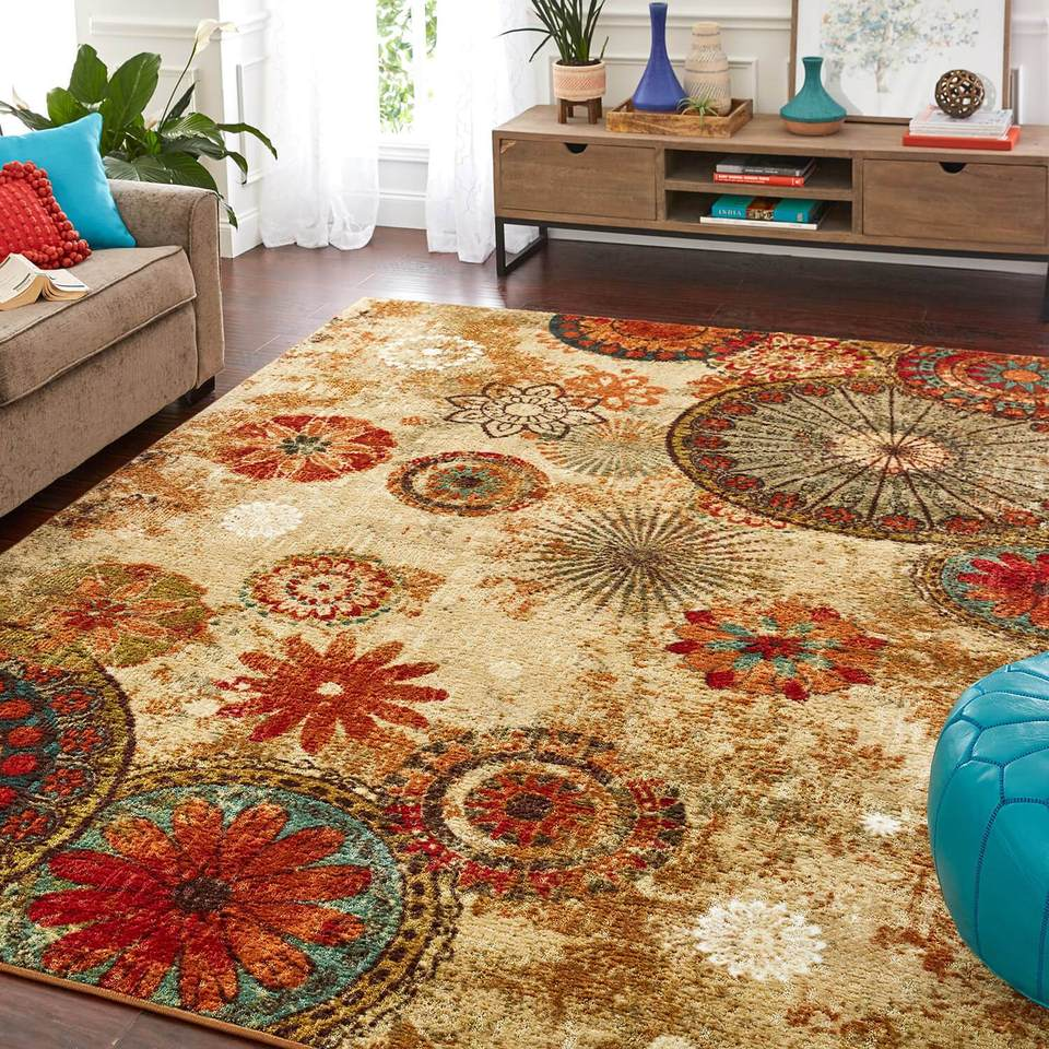 One of our best discount area rugs, the Acropolis Renalt Brown & Orange Area Rug.
