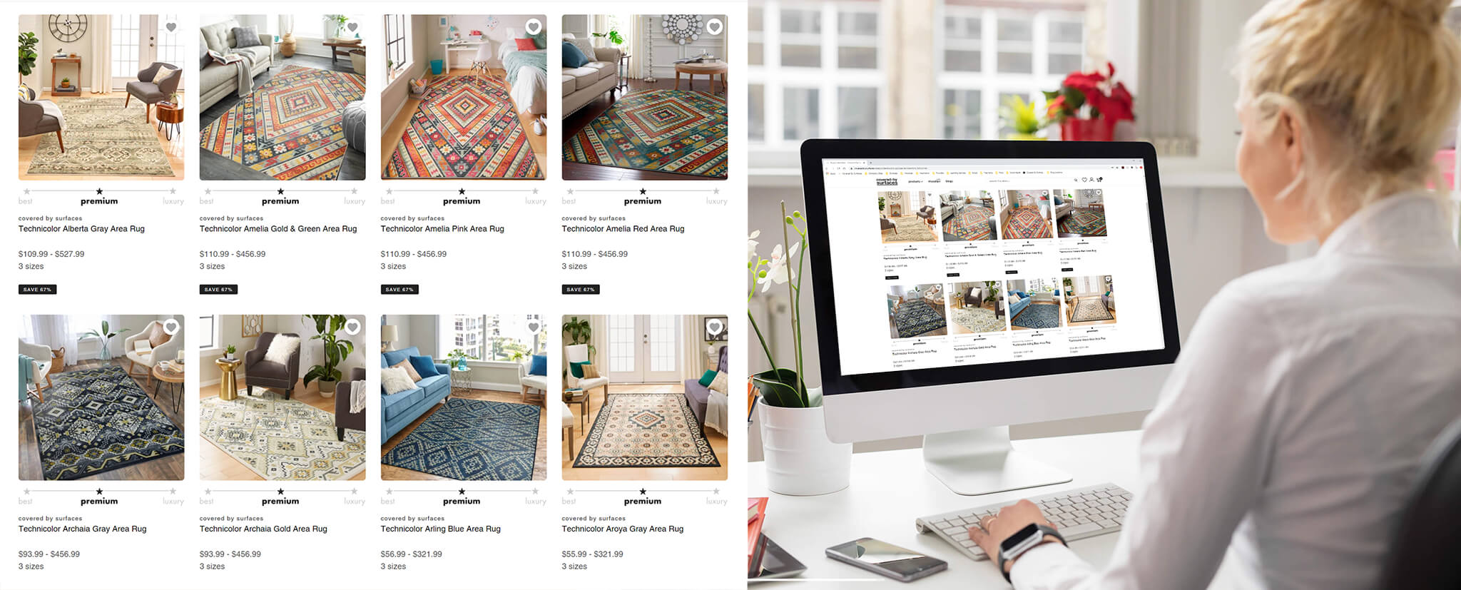 Browsing Covered by Surfaces
