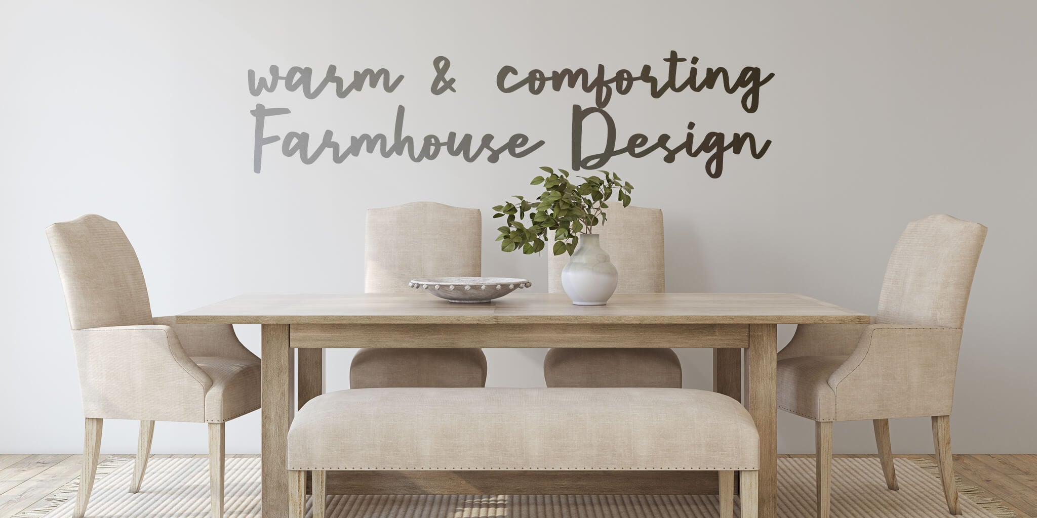 Warm and Comforting Modern Farmhouse Design