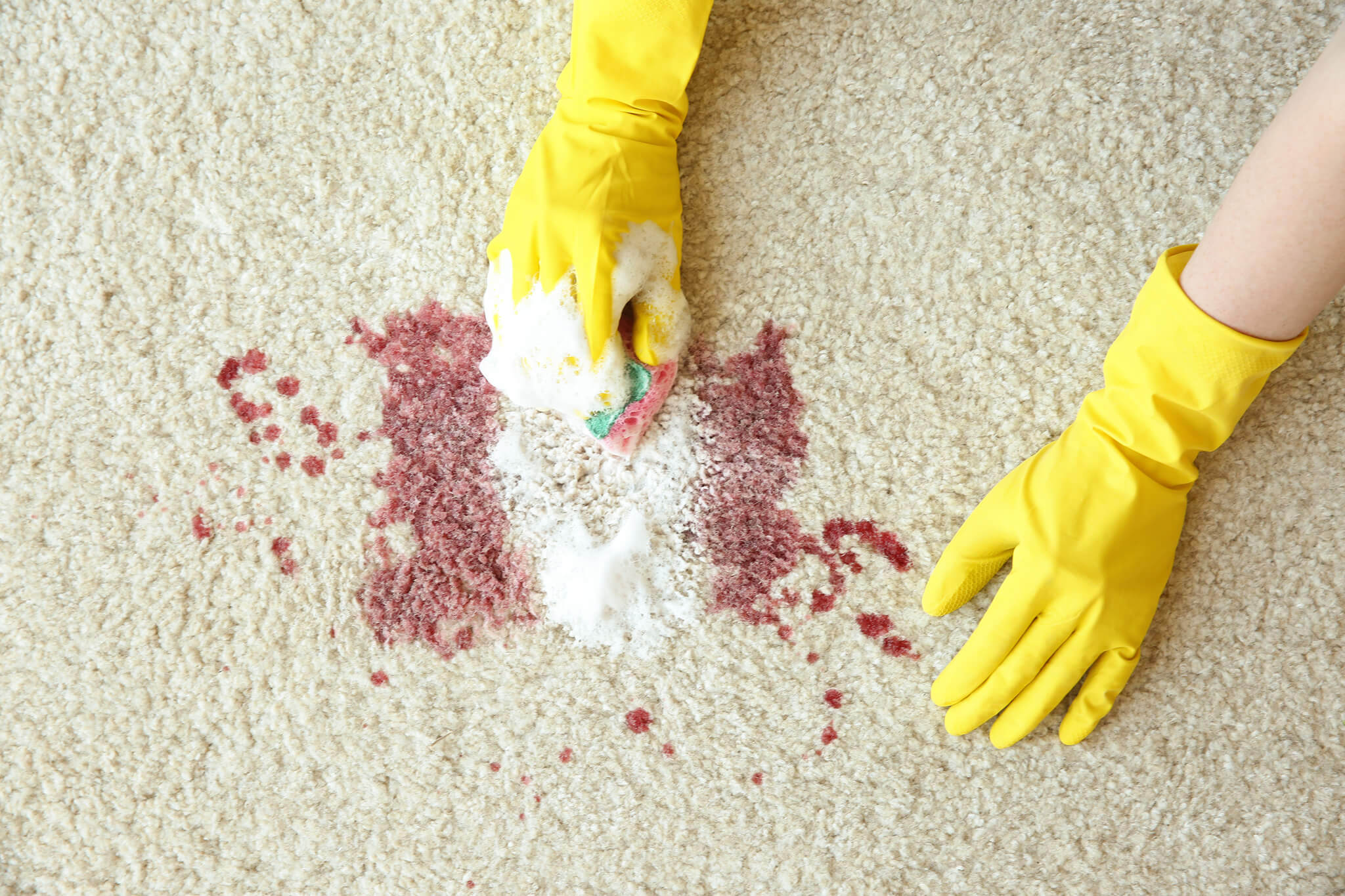 Dried Bloodstain on Carpet
