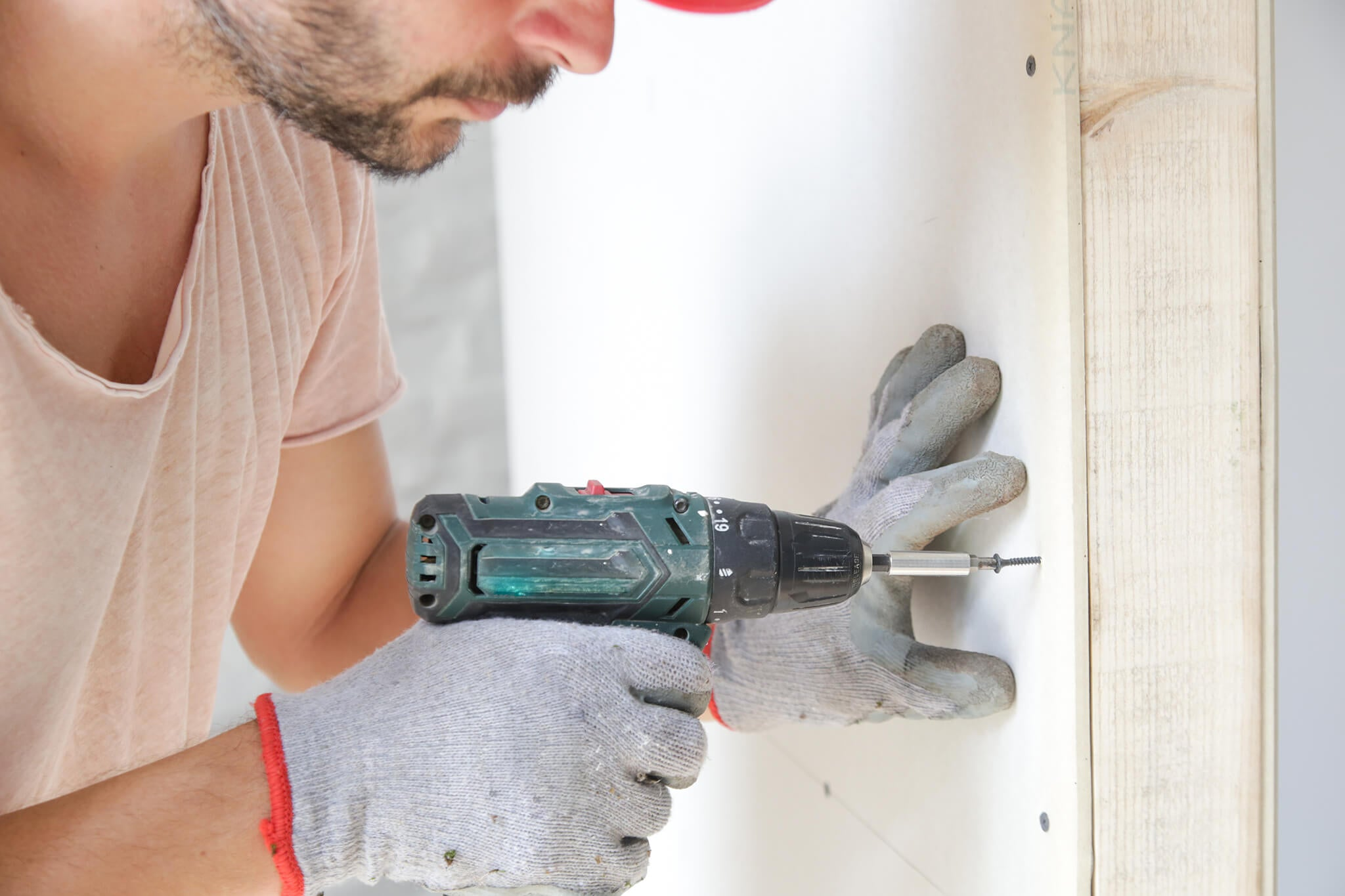 Driving Drywall Screws into the Drywall Sheets