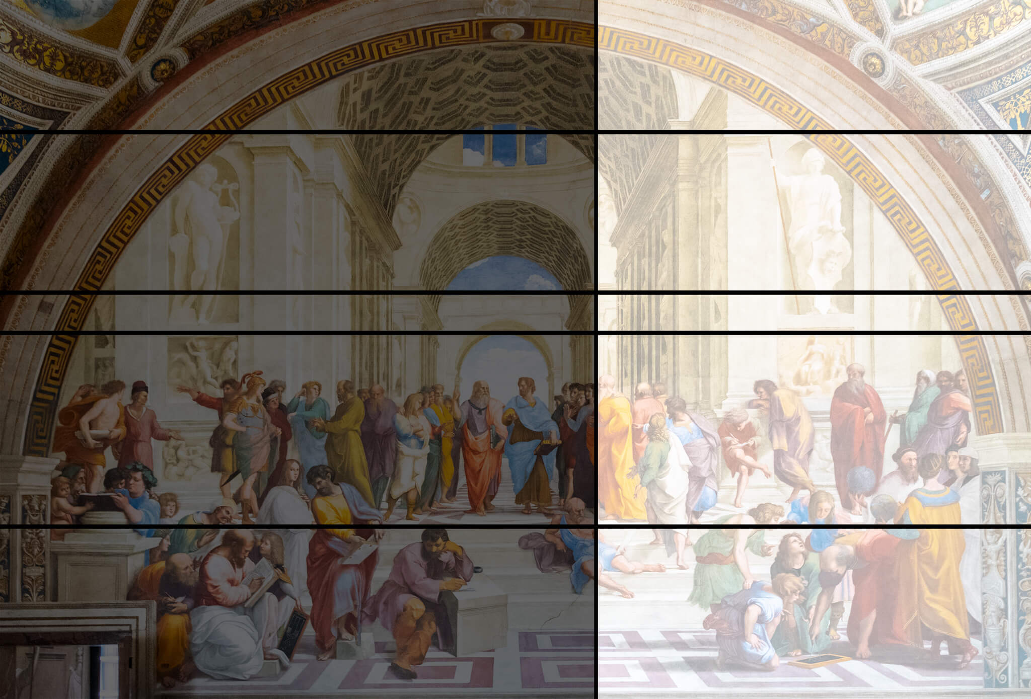 Golden Ratio Painting School of Athens