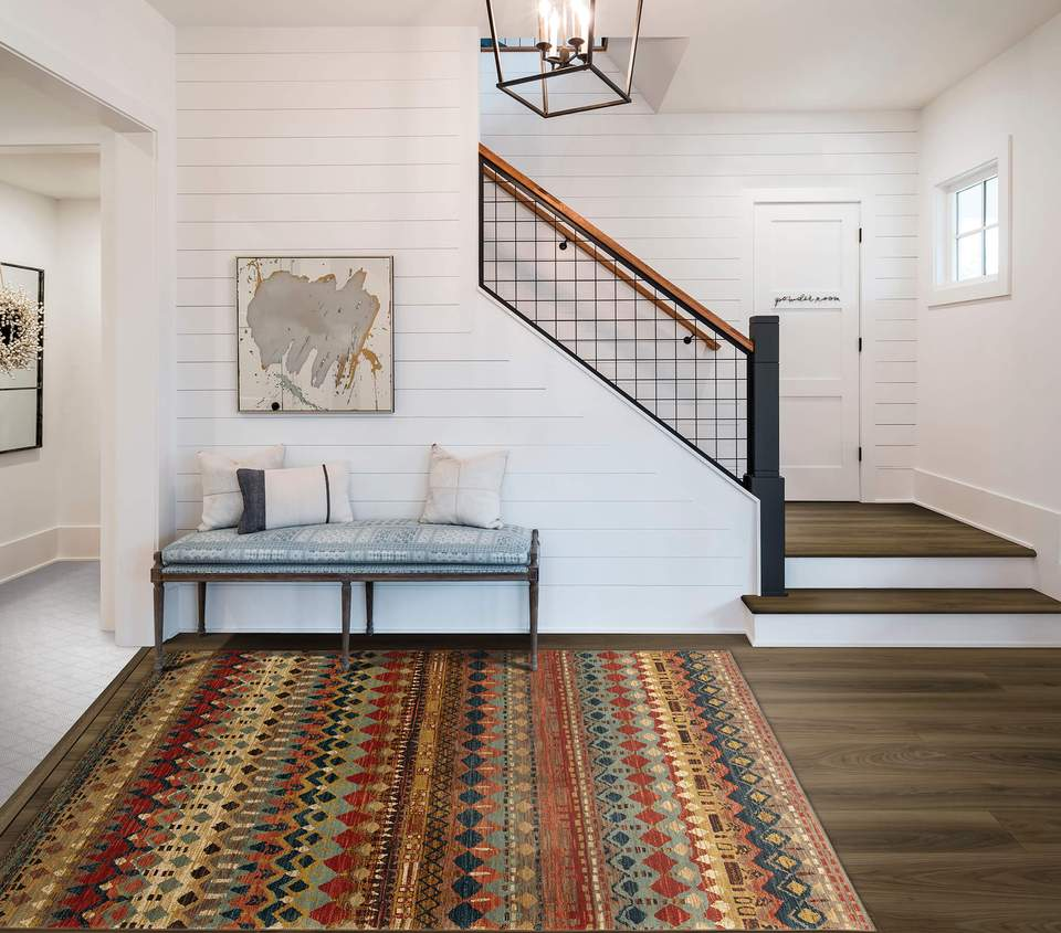 Karastan Spice Market Saigon Multi is great for people looking for a tribal area rug. Full of color, this rug brings luxury to a tribal design.