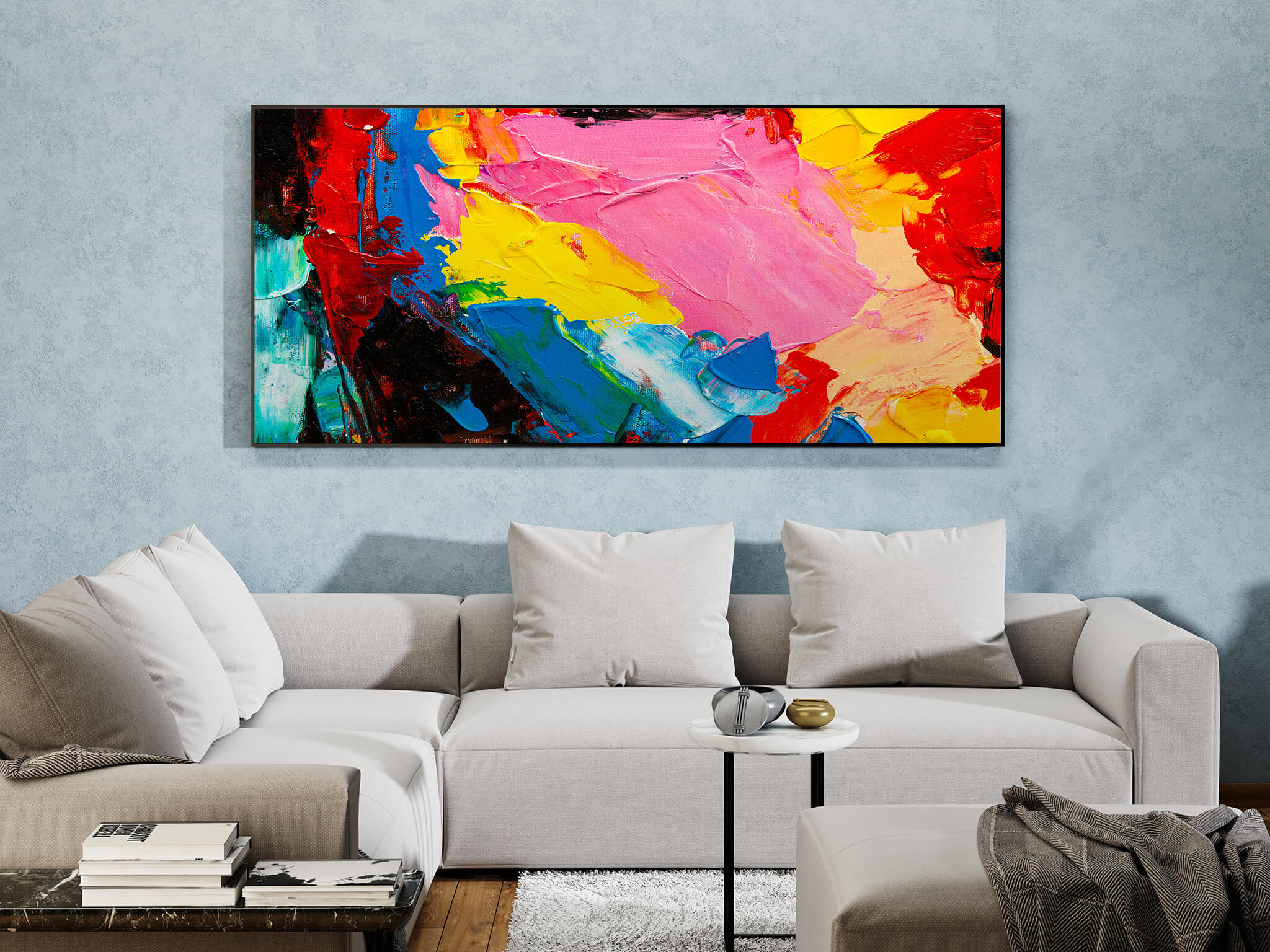 Large Painting in a Living Room