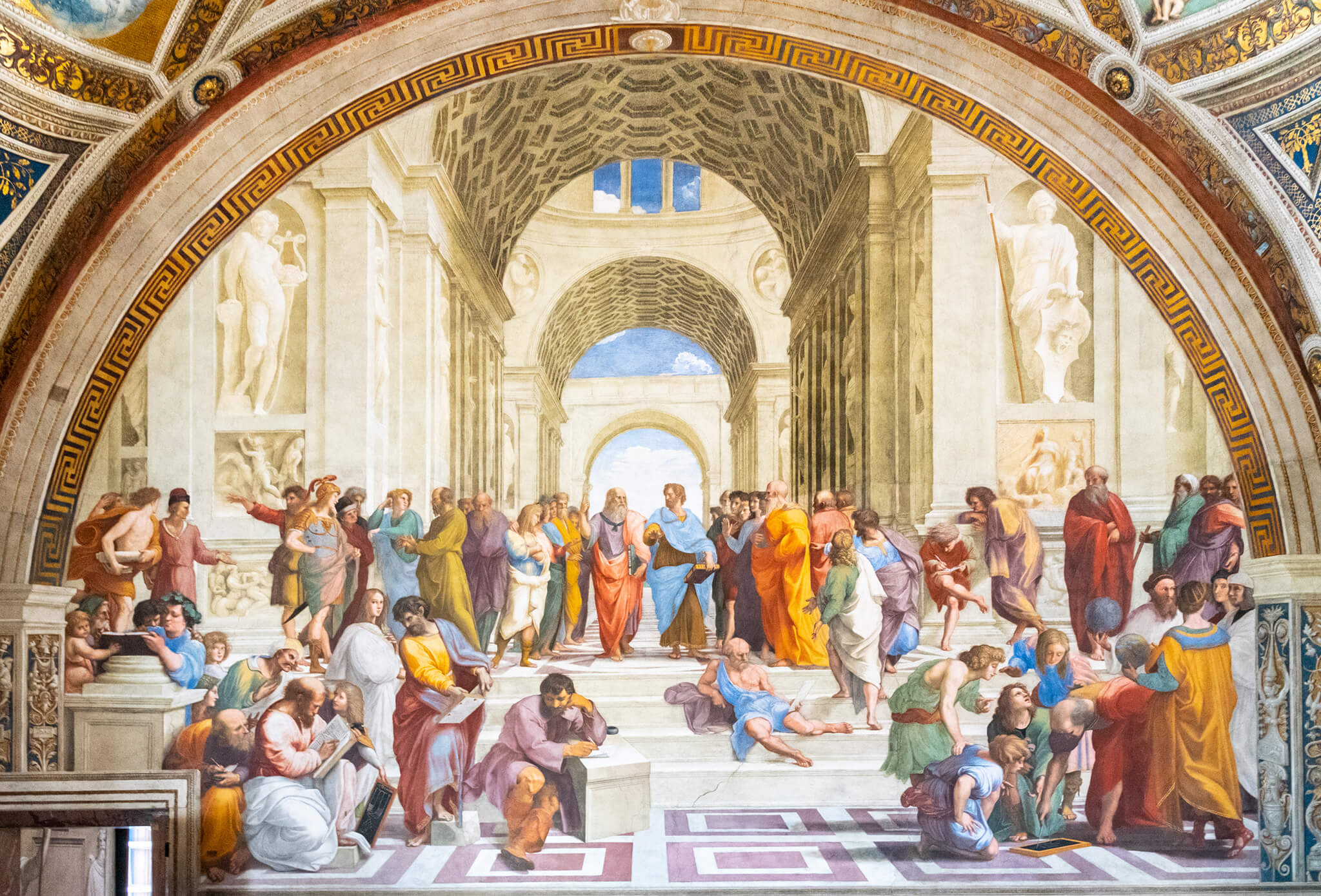 Painting Style Traditional, The School of Athens, by Raphael