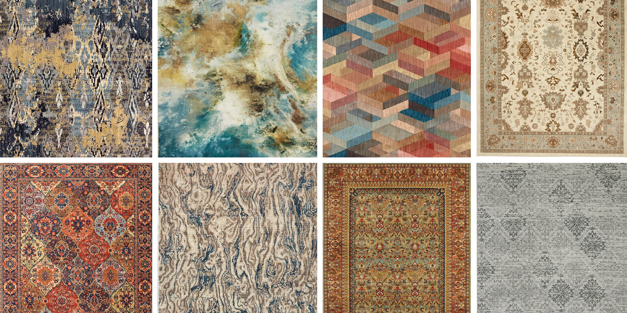 Rug choices of Traditional, Transitional, Coastal, Farmhouse, Mediterranean, Bohemian, Modern, and Contemporary styles.