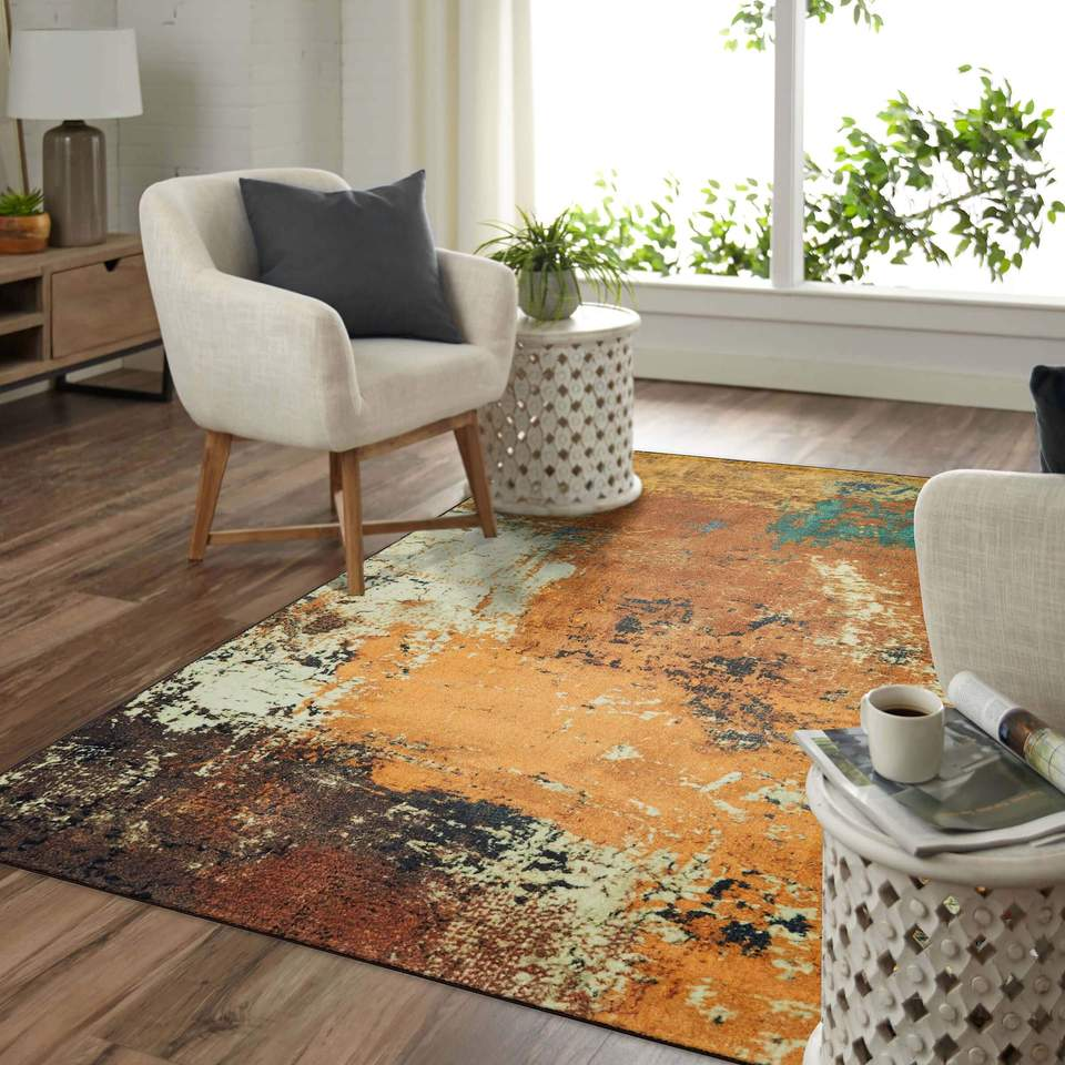 Technicolor Brooks Brown Area Rug, an 8x10 Area Rug perfect for a Contemporary home in need of Fall colors..