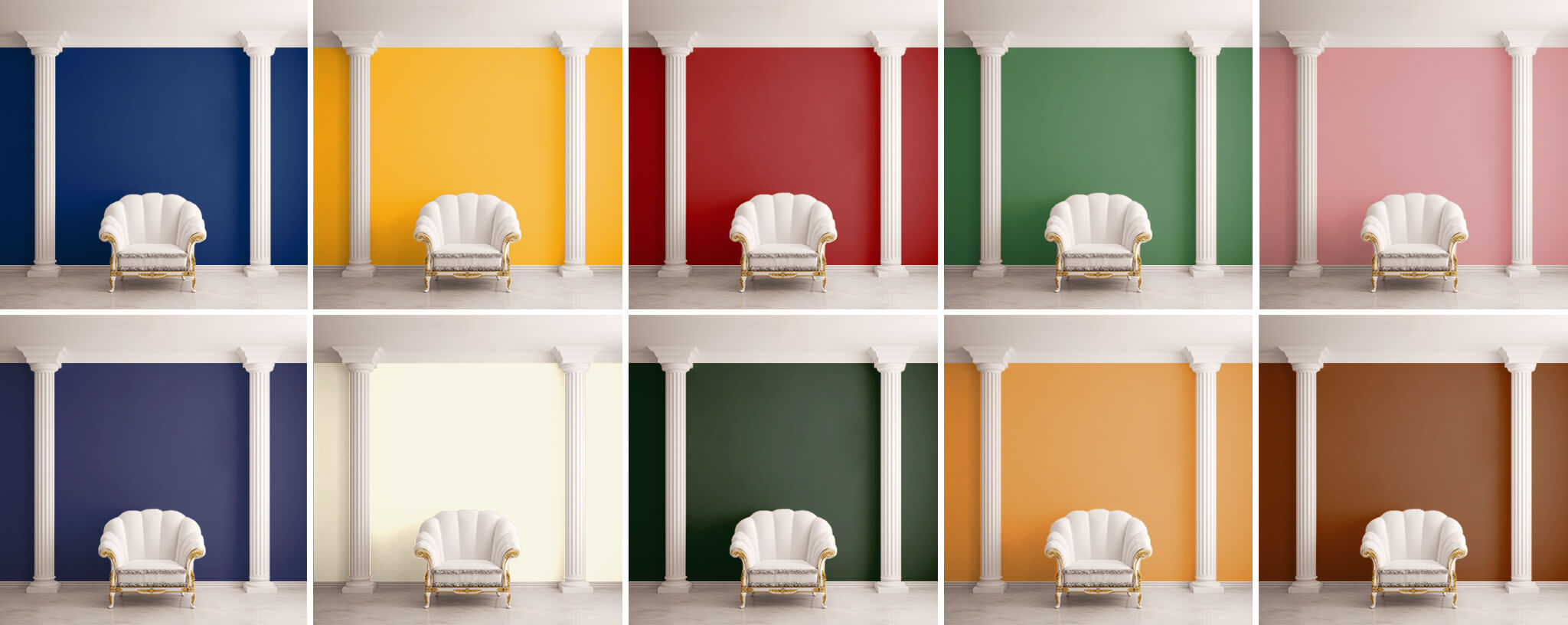 room color examples wall traditional scheme