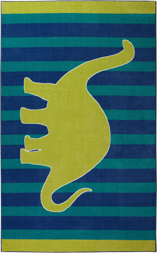 Lucia Dancing Dino Blue & Green Area Rug