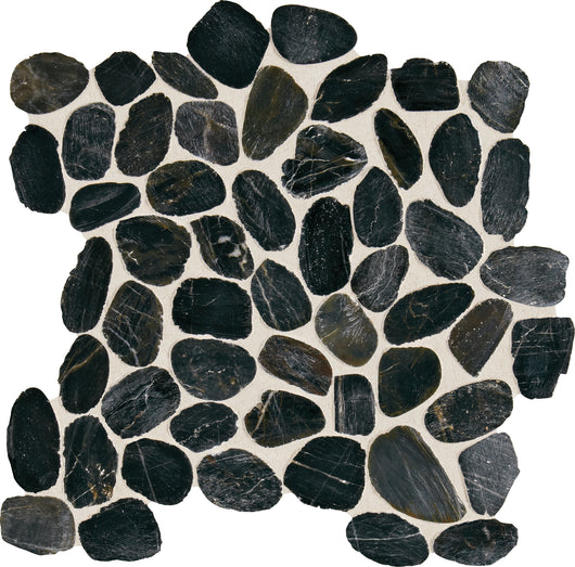 Stone Mosaic Black River Pebble Mosaic