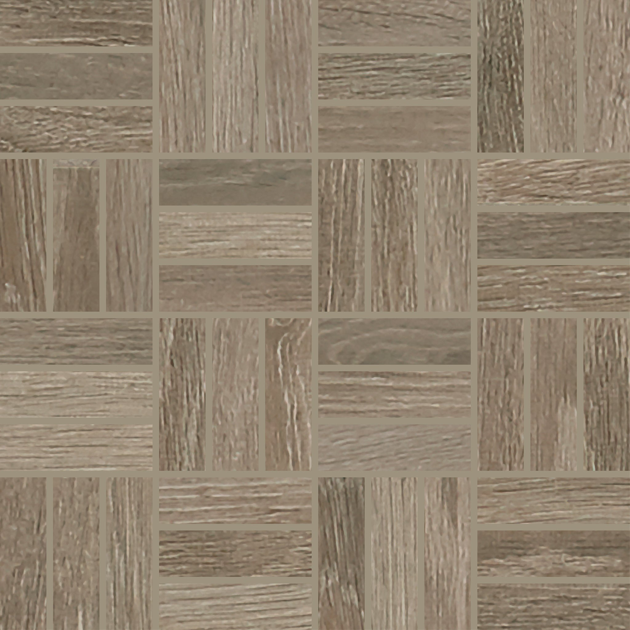Trellis Oak Natural Ash 1X3 Lattice Weave Mosaic