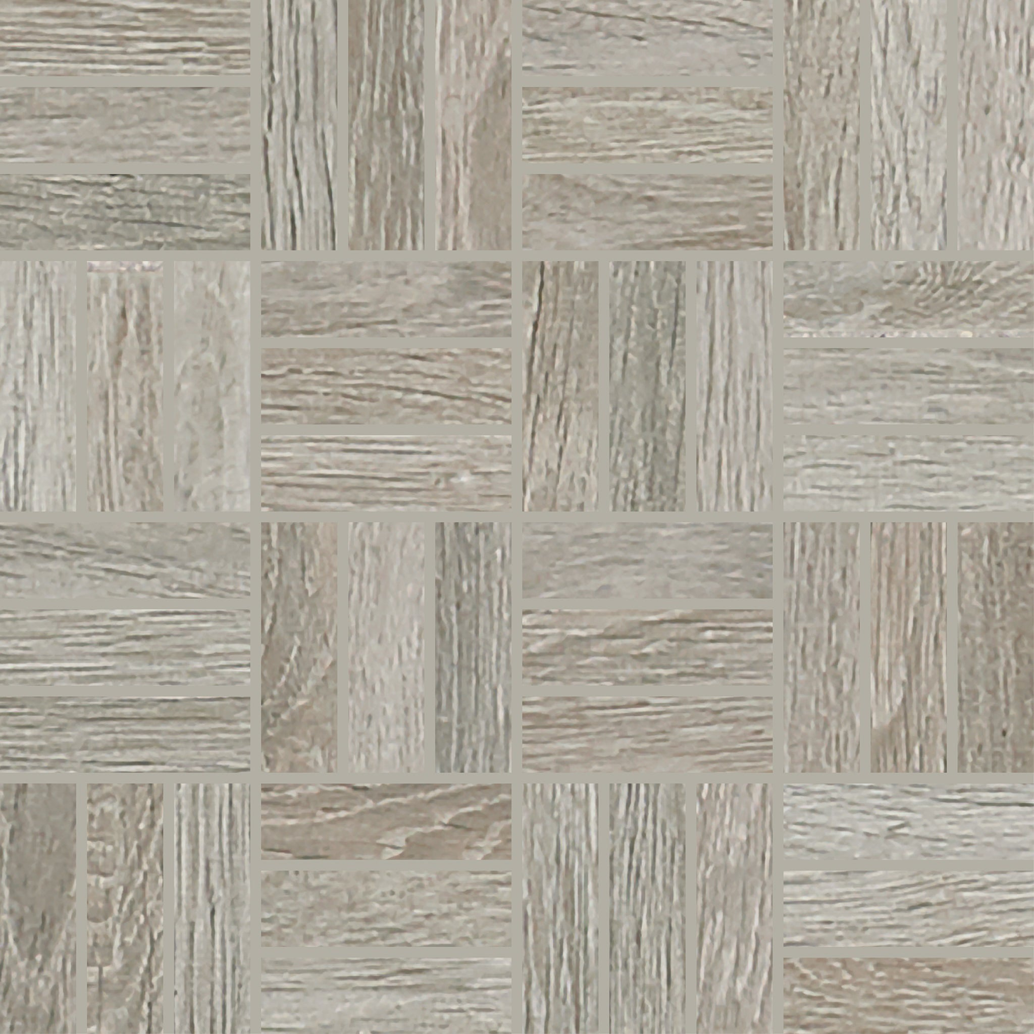 Trellis Oak Smoke 1X3 Lattice Weave Mosaic