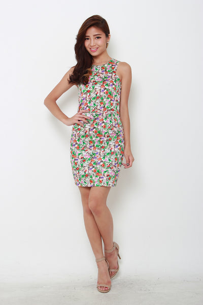 *RESTOCKS* *NASSA* Pixie Floral Cut-In Dress in Brown