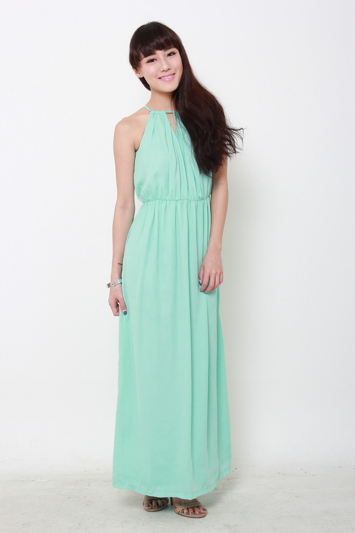 *RESTOCKS* *NASSA* Christie Maxi Dress in Mint Green