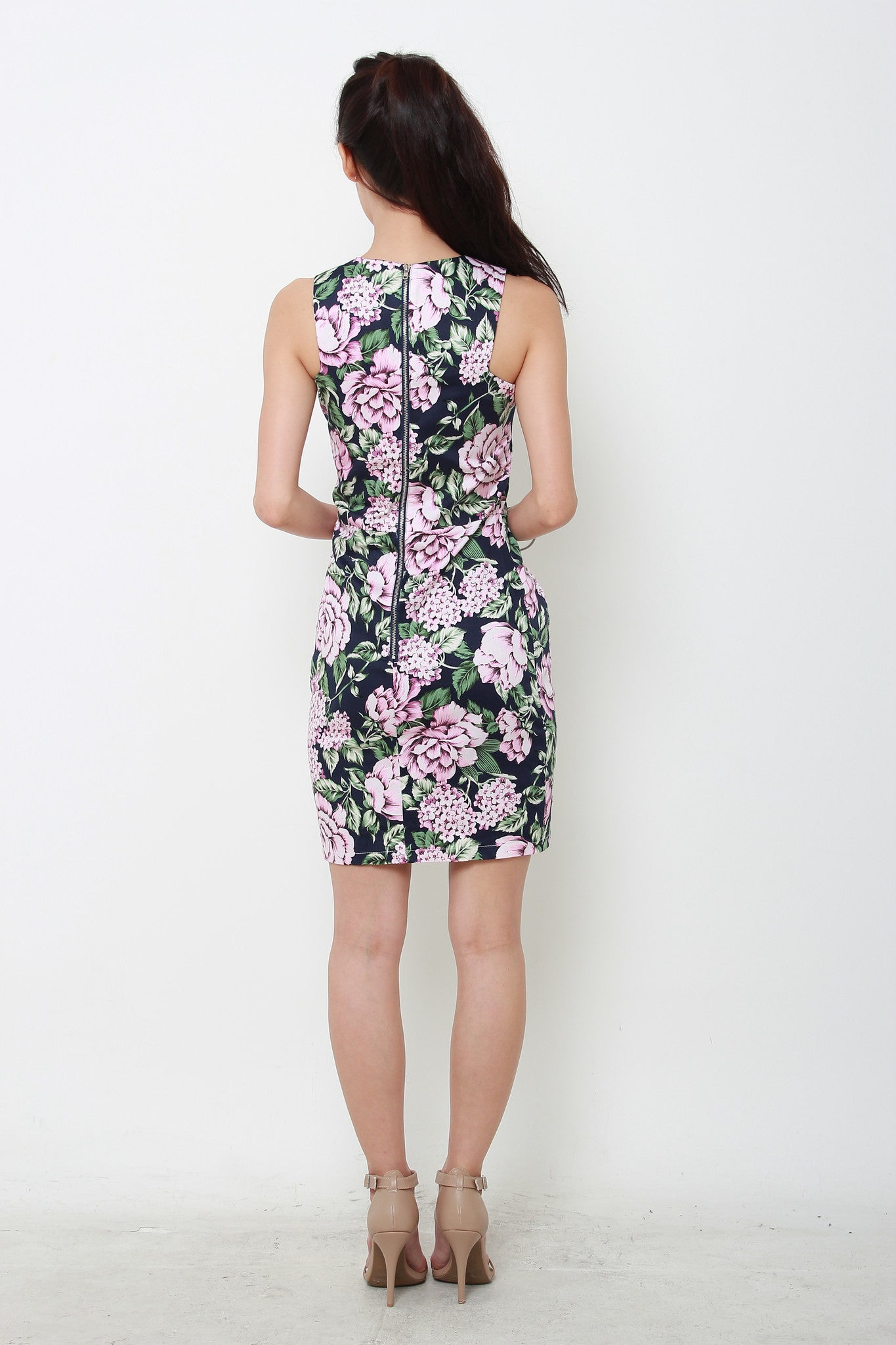 *RESTOCKS* *NASSA* Pixie Floral Cut-In Dress in Blue