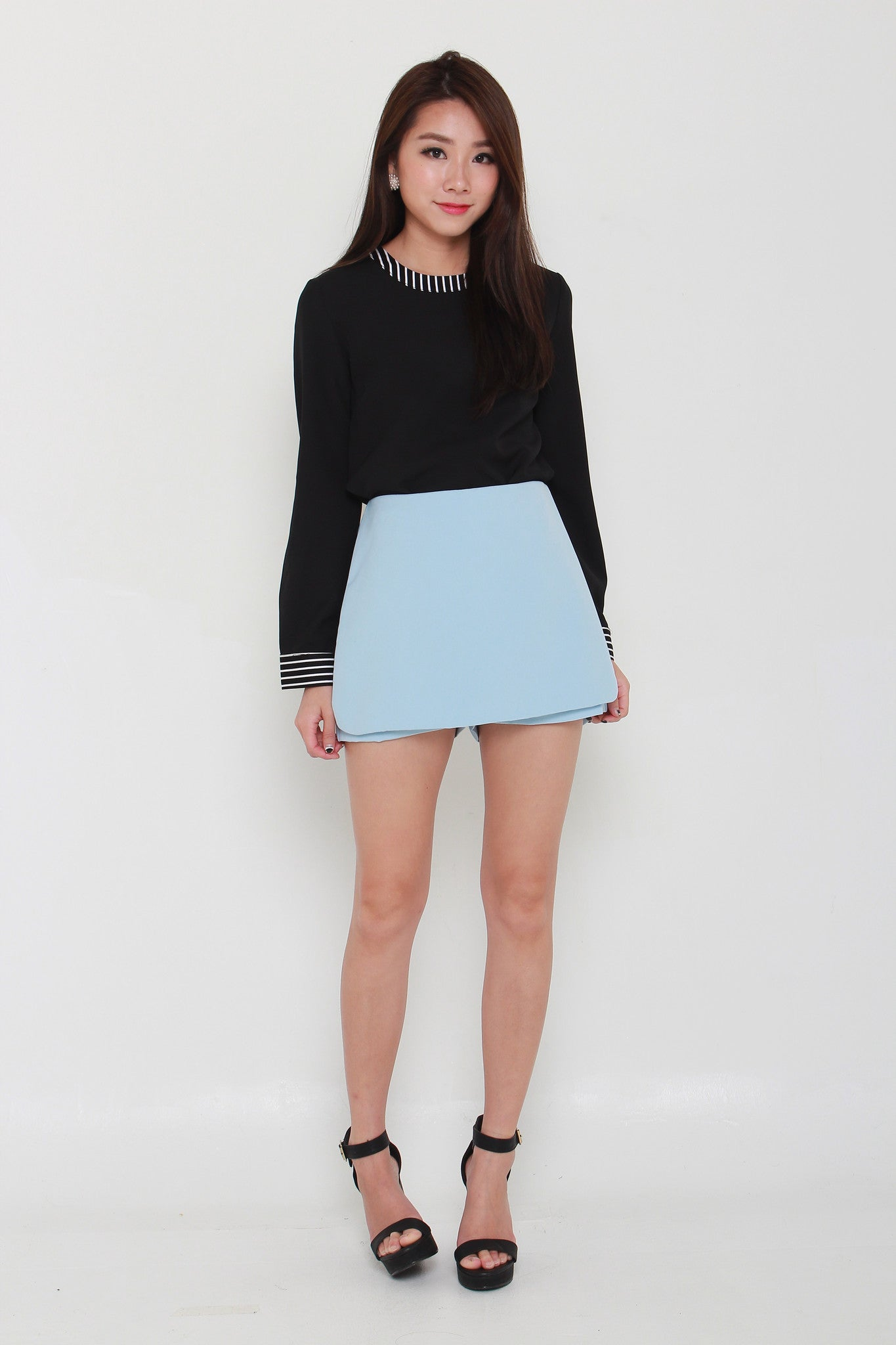 Lexie Tailored Skorts in Light Blue