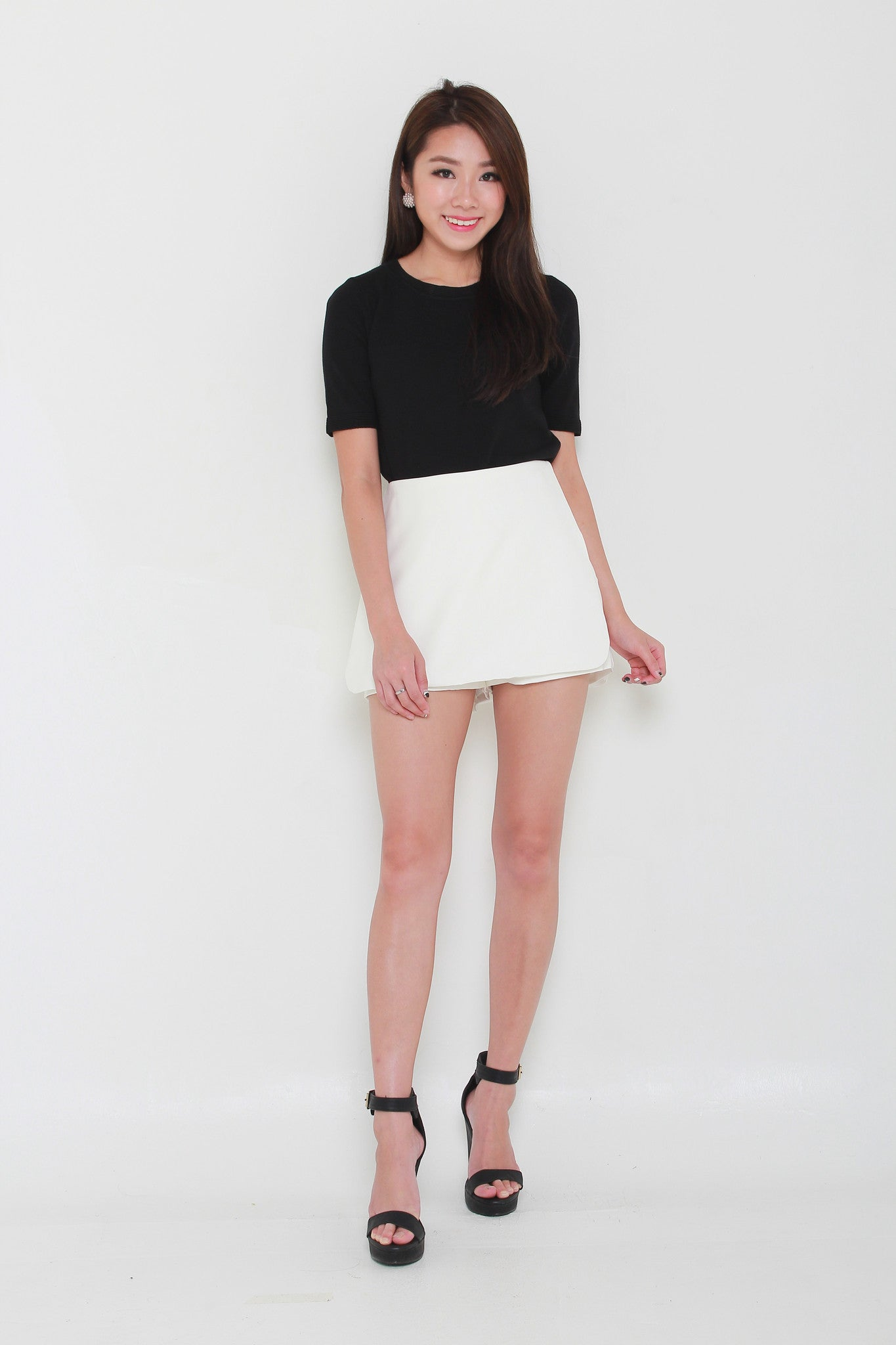 Lexie Tailored Skorts in White